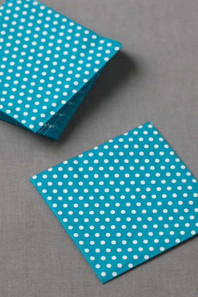 turquoise Polka-Dot Cocktail Napkins (20) | BHLDN