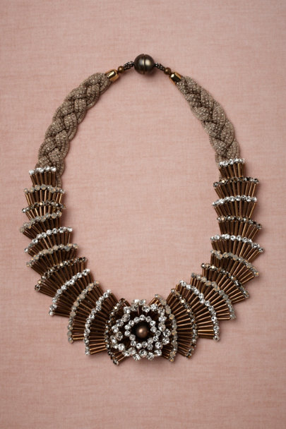Tataborello gold Fountain Necklace | BHLDN