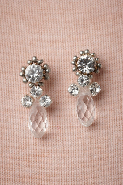 Tataborello clear Glittering Consort Earrings | BHLDN