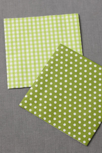 lime green Gingham Cocktail Napkins (20) | BHLDN