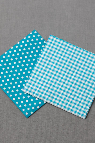 turquoise Gingham Cocktail Napkins (20) | BHLDN