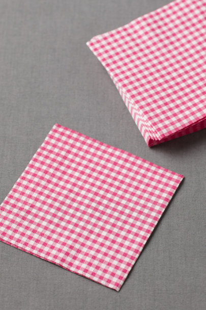 deep pink Gingham Cocktail Napkins (20) | BHLDN