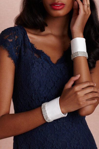 Radà white Diamanté Cuffs (2) | BHLDN