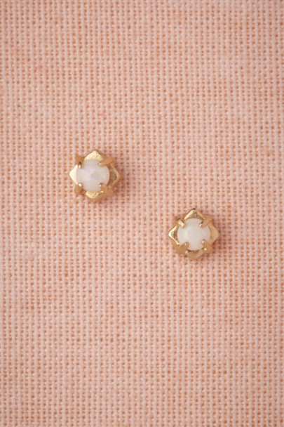 white Selene Studs | BHLDN