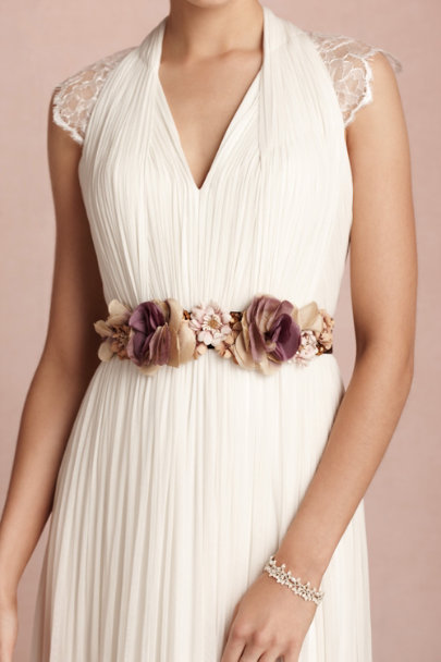 purple motif Teatime Sash | BHLDN