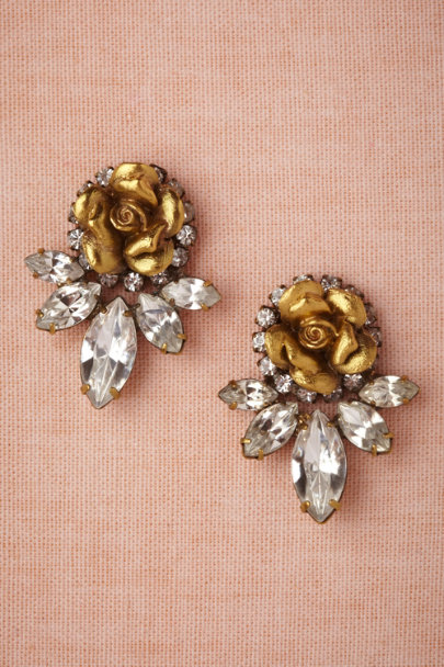 Elizabeth Cole gold Wild Rose Earrings | BHLDN