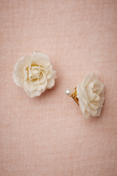 Salet white Bee's Devotion Earrings | BHLDN