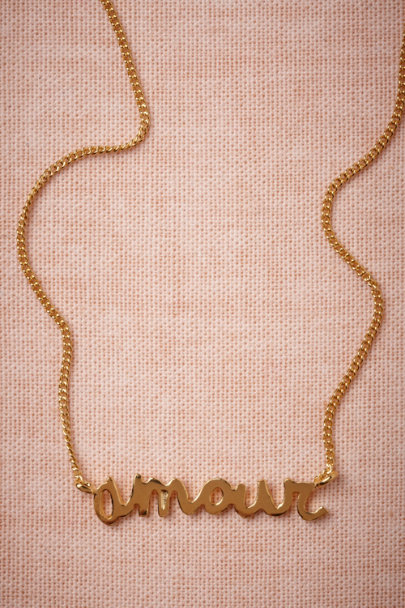 gold Amour Necklace | BHLDN