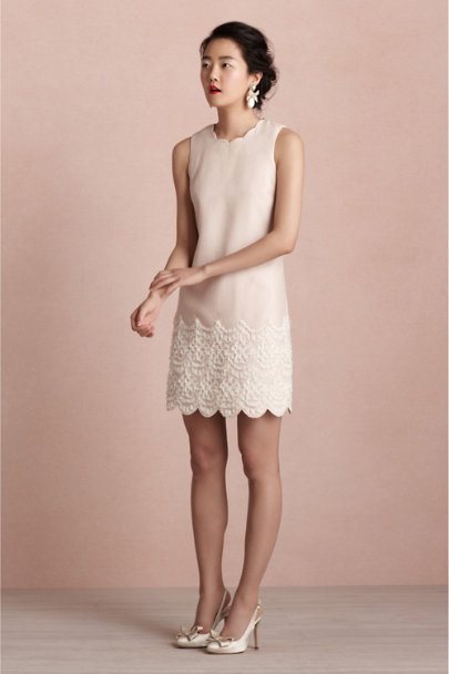 rose/tan Chrysanthemum Shift | BHLDN