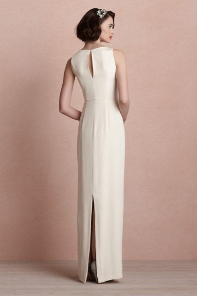ivory Bouvier Column Gown | BHLDN