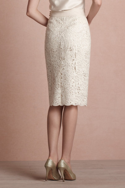buttercream English Embroidery Skirt | BHLDN