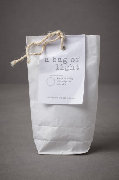 white Good Nacht Lantern Kit | BHLDN