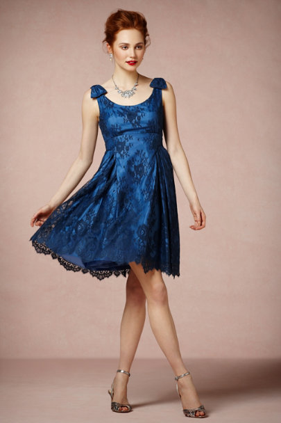 Deep Ink Blue Hour Dress | BHLDN