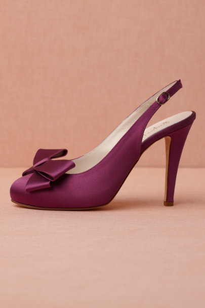 fuchsia Bow-Topped Slingbacks | BHLDN
