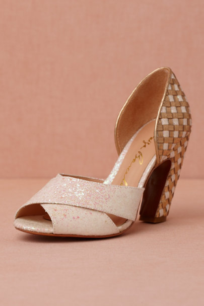 ivory Giltweaving Heels | BHLDN