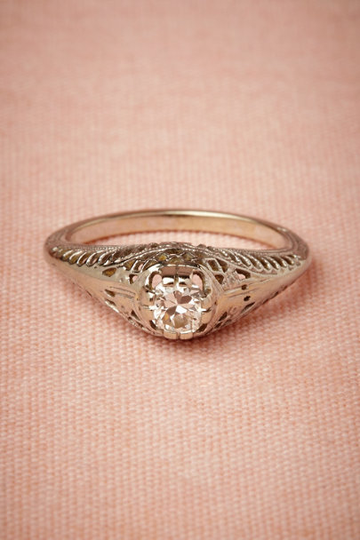 white gold Velma Ring | BHLDN