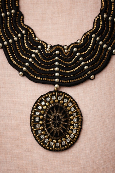 Ranjana Khan black Cassiopeia Necklace | BHLDN