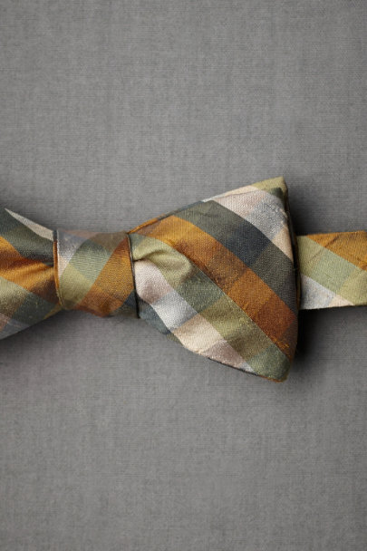 neutral motif Forage Silk Bowtie | BHLDN