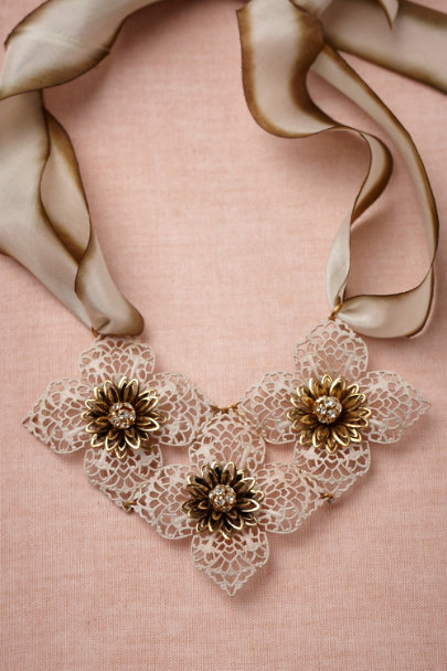 green motif Tesserae Necklace | BHLDN