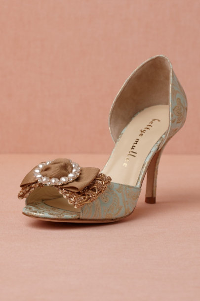 sky blue Broccato d'Orsays | BHLDN