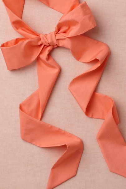 hot peach Simply Silk Sash | BHLDN
