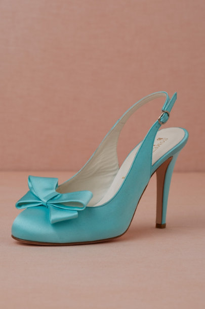 robin's egg Bow-Topped Slingbacks | BHLDN