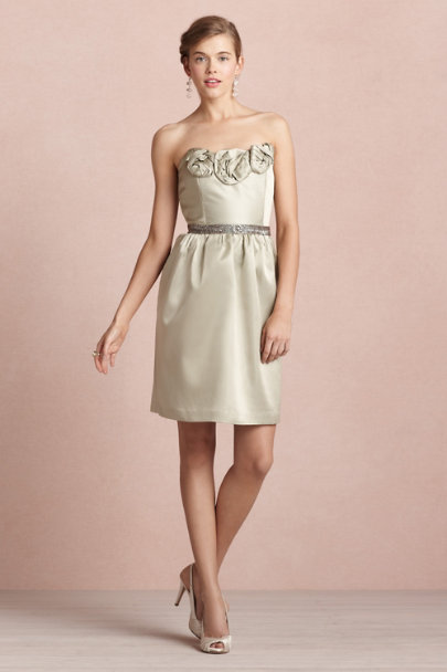 James Coviello sage Rosette Dress | BHLDN