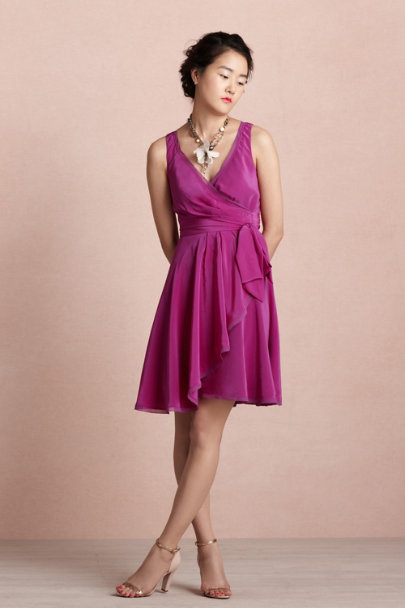 italian plum Ebb & Flow Wrap Dress | BHLDN