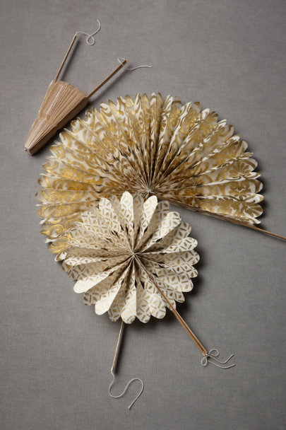 gold Crinkled Wheel Set (12) | BHLDN