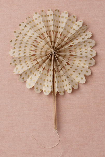 gold Crinkle Fans (10) | BHLDN