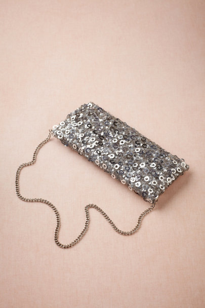 silver Six Fathoms Clutch | BHLDN