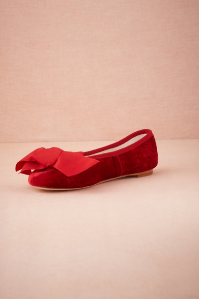 red Red Velvet Slippers | BHLDN