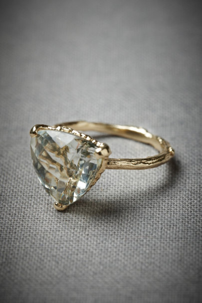 yellow gold Evergreen Hollow Ring | BHLDN