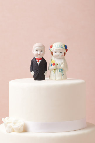 Newlyweds Cake Topper
