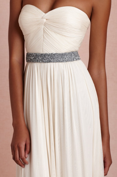 dusty blue Sundown Sash | BHLDN