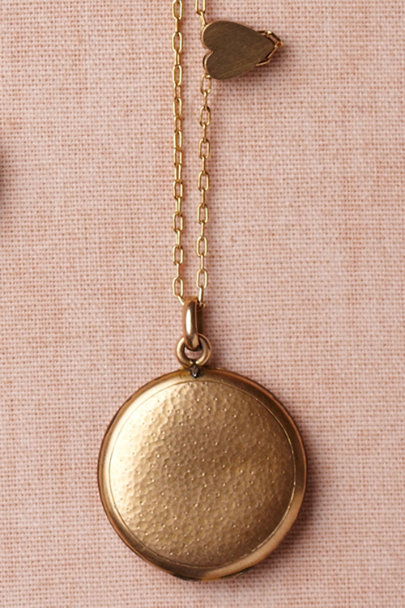 gold Partridge Vine Locket | BHLDN