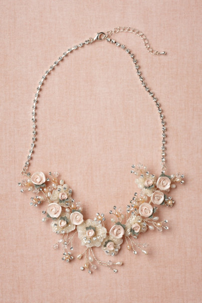 soft pink Tender Buds Necklace | BHLDN