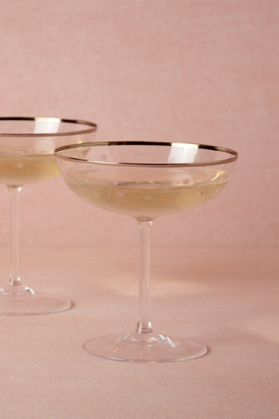 clear Frosted Dot Coupes (2) | BHLDN