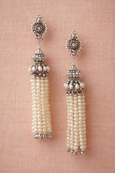 pearl Tassel Earrings | BHLDN