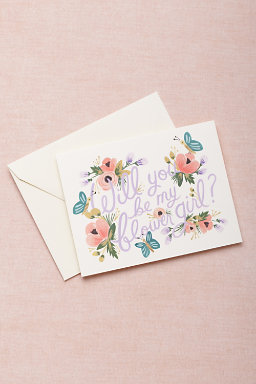Blooming Flower Girl Card