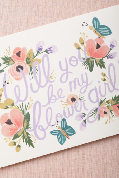 Rifle Paper Co. lilac multi Blooming Flower Girl Card | BHLDN