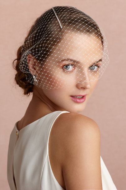 ivory Line-Of-Sight Bandeau Veil | BHLDN