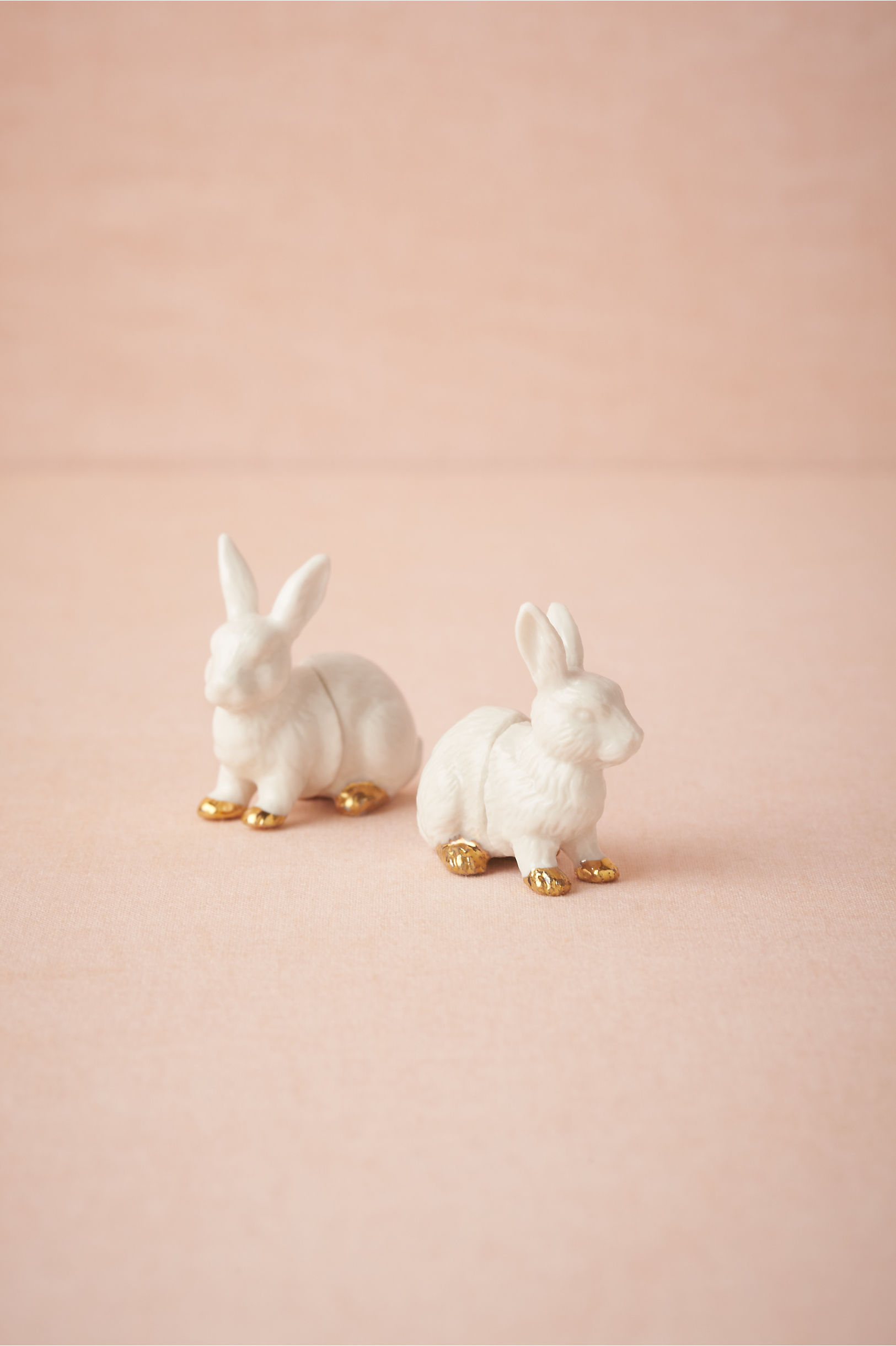 white bunny place card holders 6 bhldn