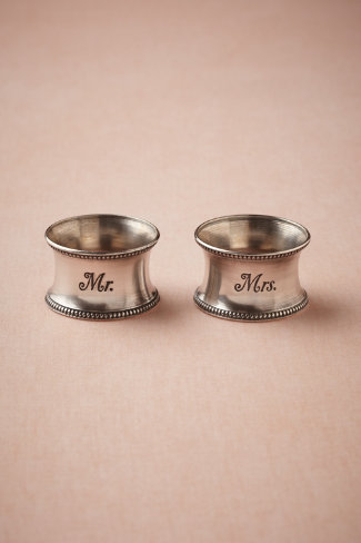 Sweethearts' Napkin Rings (2)