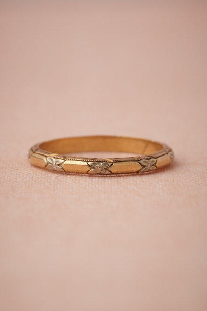 gold Summer Plume Ring | BHLDN