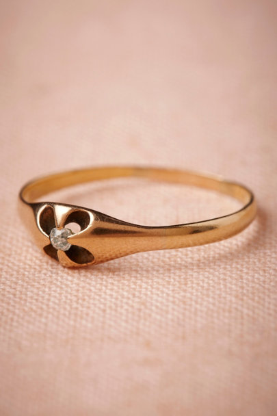 gold Cloverleaf Ring | BHLDN