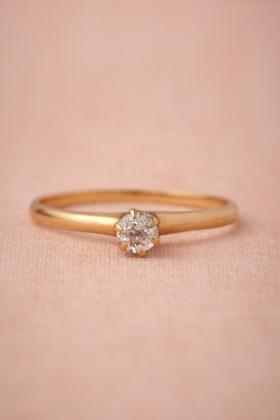 gold Unequivocal Ring | BHLDN