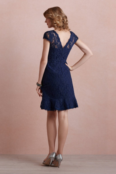 McGinn navy Clemence Dress | BHLDN