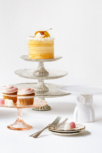 silver Quicksilver Cake Stands | BHLDN