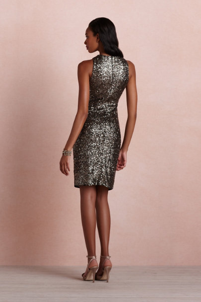 Badgley Mischka bronze Alloy Dress | BHLDN